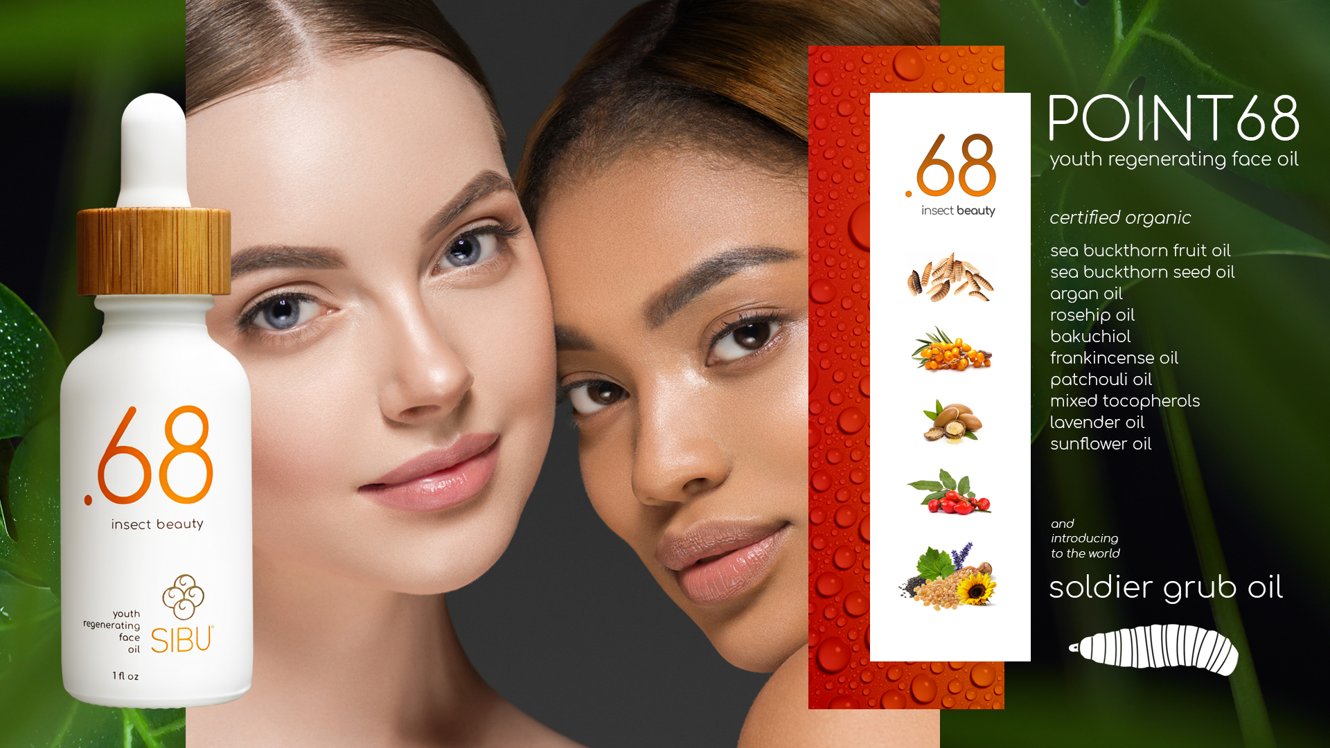 Point68 insect beauty youth regenerating face oil for all skin types